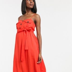 ASOS Maternity belted button down midi dress